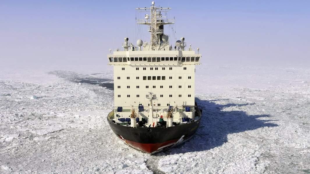 """Атомный ледокол """"Вайгач"""" на пути западного сектора Арктики"""
