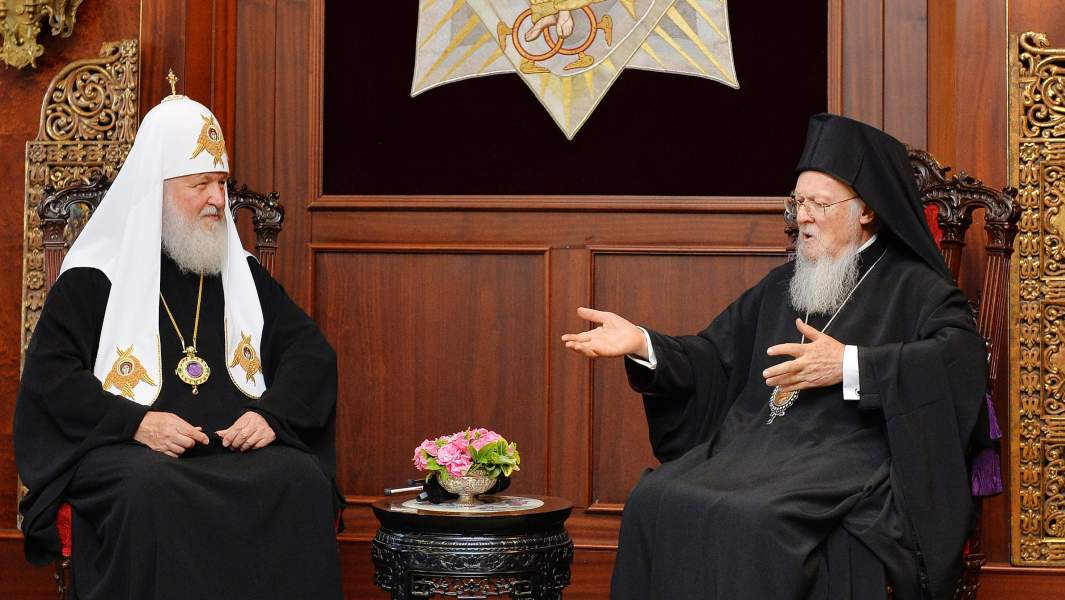 Meeting of Patriarch of Moscow Cyril and Patriarch of Constantinople Bartholomew