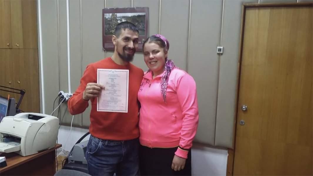 Ханофер Ефимов ди Кейрос, старовер из Туруханского района узаконил свой брак с гражданской женой