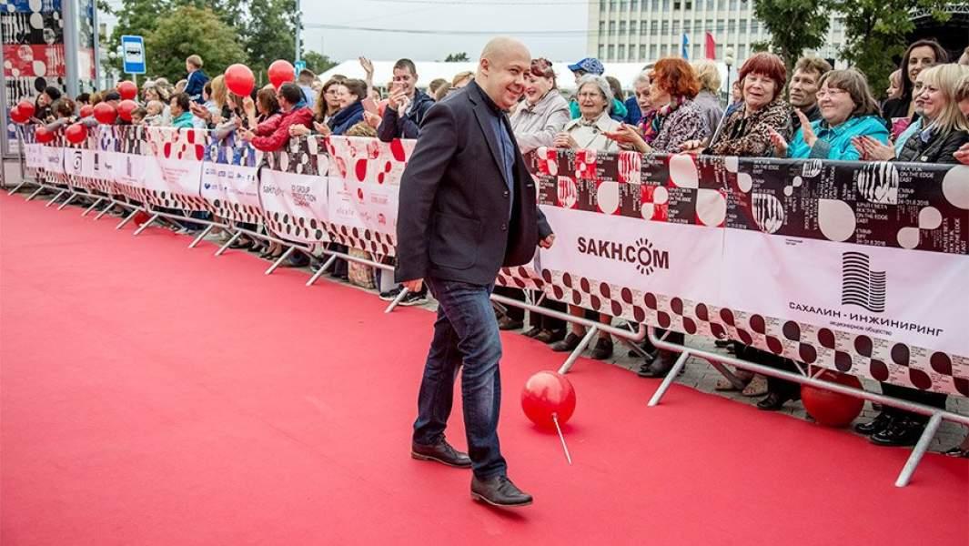 Алексей Герман-младший на красной дорожкефестиваля «Край света»