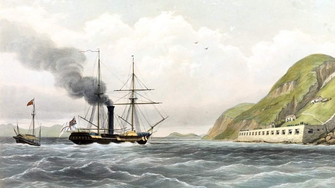 Английский пароходофрегат «Стервятник»