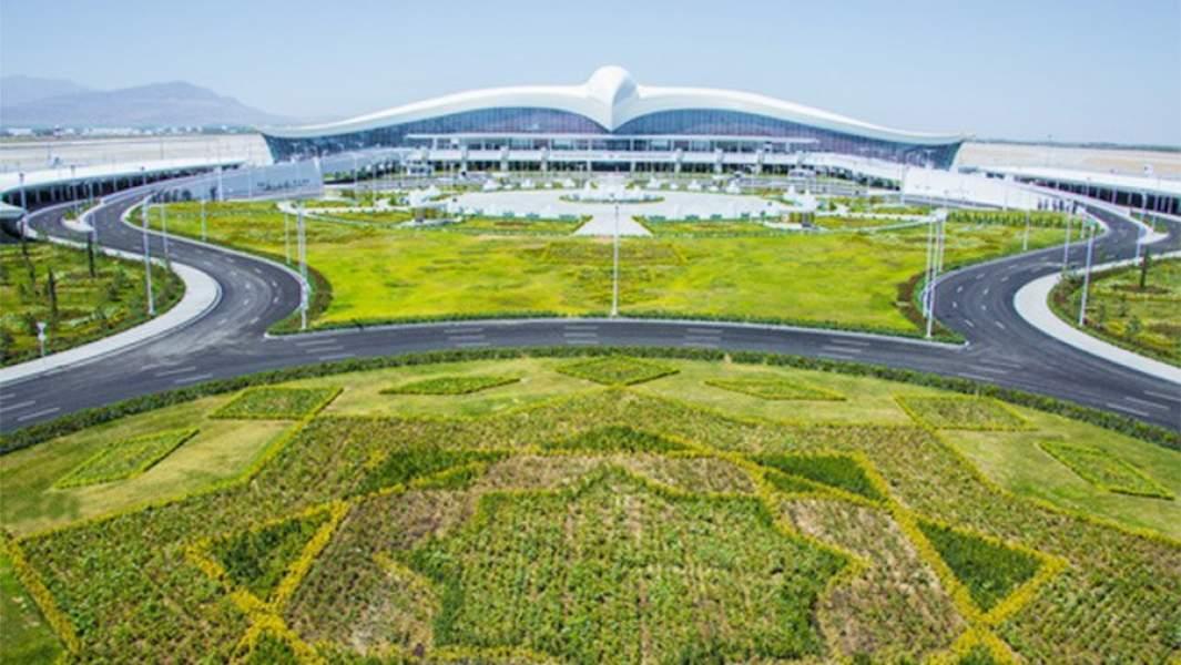 Вид на новыйаэропорт в Ашхабаде