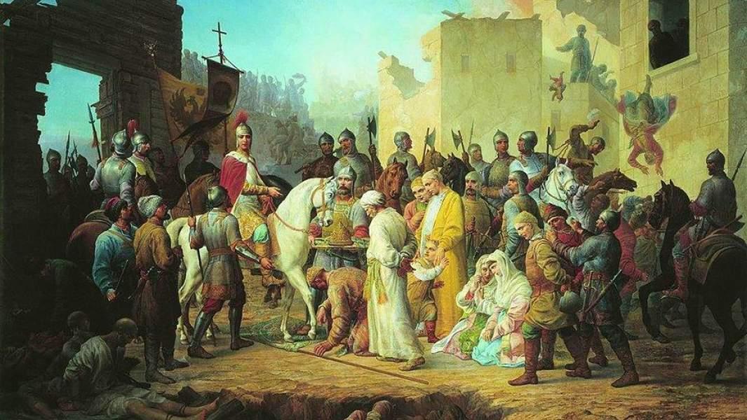 Вступление Иоанна IV в Казань, 1894 год
