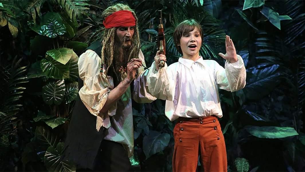 Cпектакльдля детей «Остров сокровищ»на сцене Московского Губернского театра