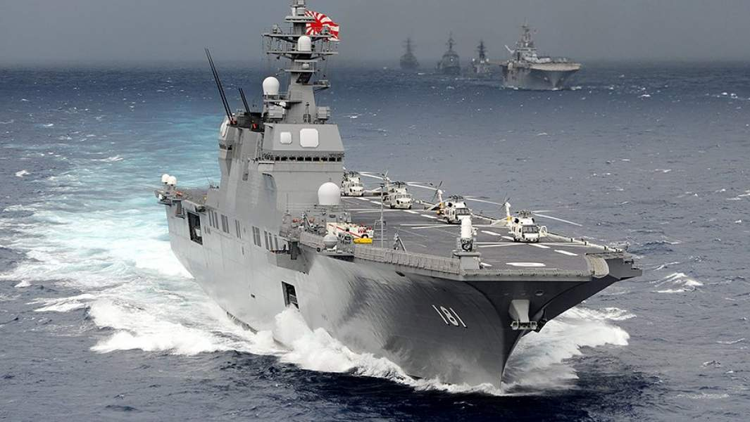 Вертолетоносецпроекта «Хюга» морских сил самообороны Японии