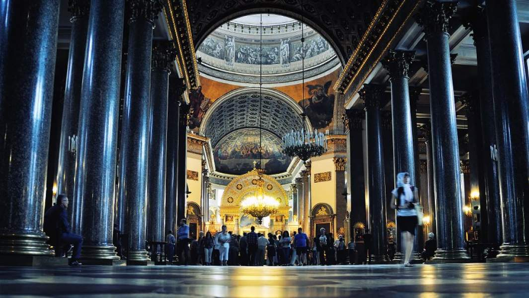 Интерьер Казанского собора,Санкт-Петербург