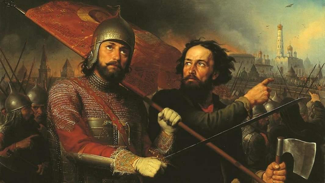 Картина М. И. Cкотти «Минин и Пожарский», (1850)