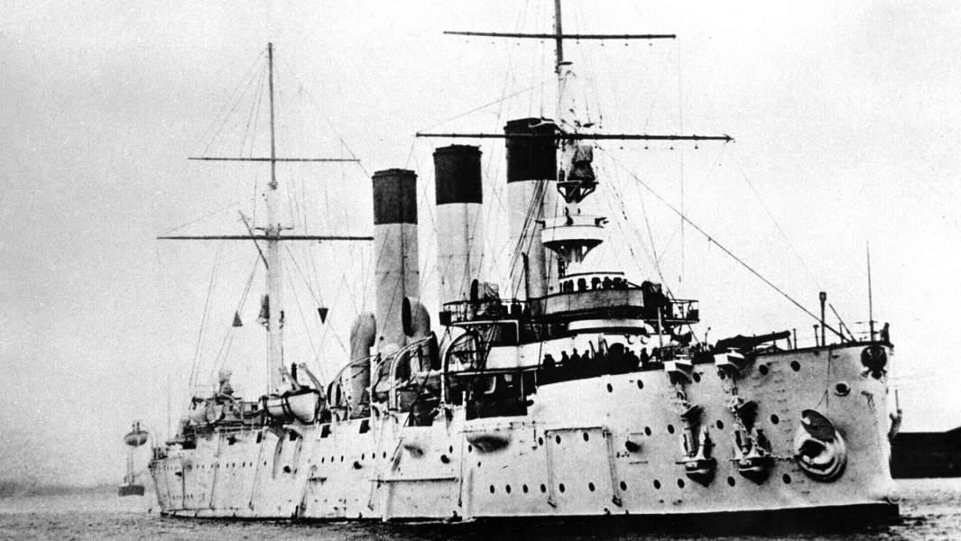 Крейсер«Аврора» в составе второй Тихоокеанской эскадры, 1 сентября 1904 года