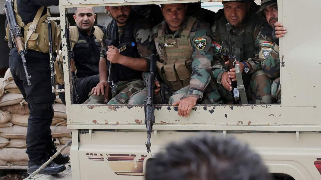 Бойцы курдских военизированных формирований пешмерга