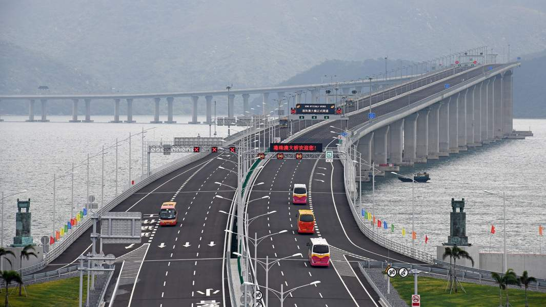Самый длинный в мире морской мостГонконг–Чжухай–Макао