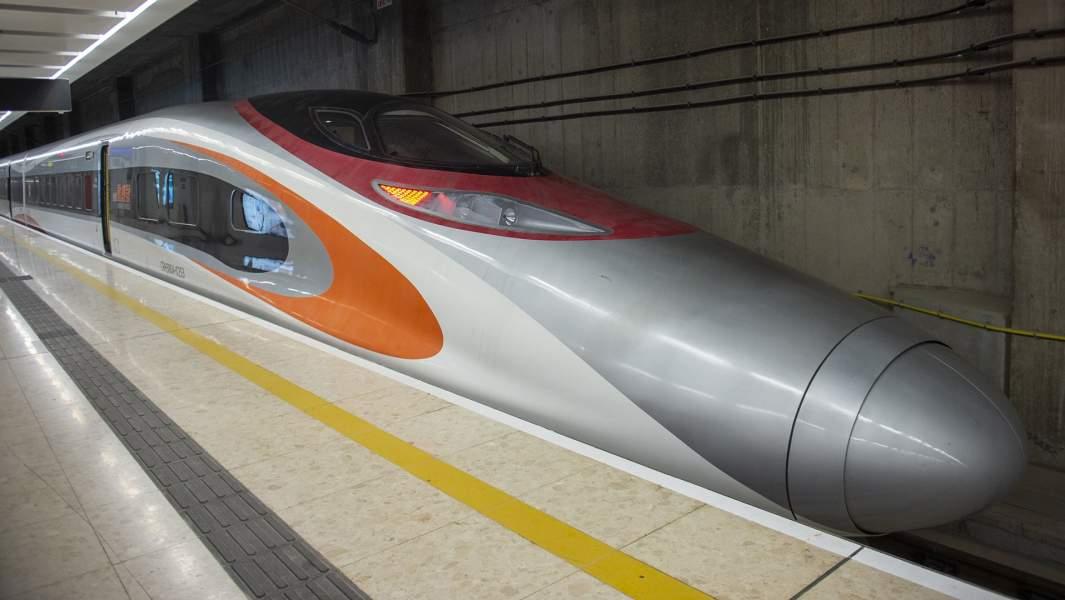 Скоростной поезд вГонконге
