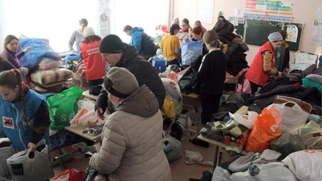 В одной из школ Магнитогорска, где разместили пострадавших от взрыва бытового газа в многоквартирном доме