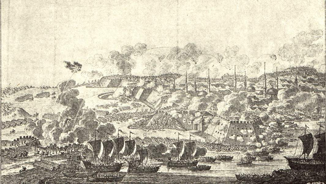 Штурм Измаила, гравюра XVIII века