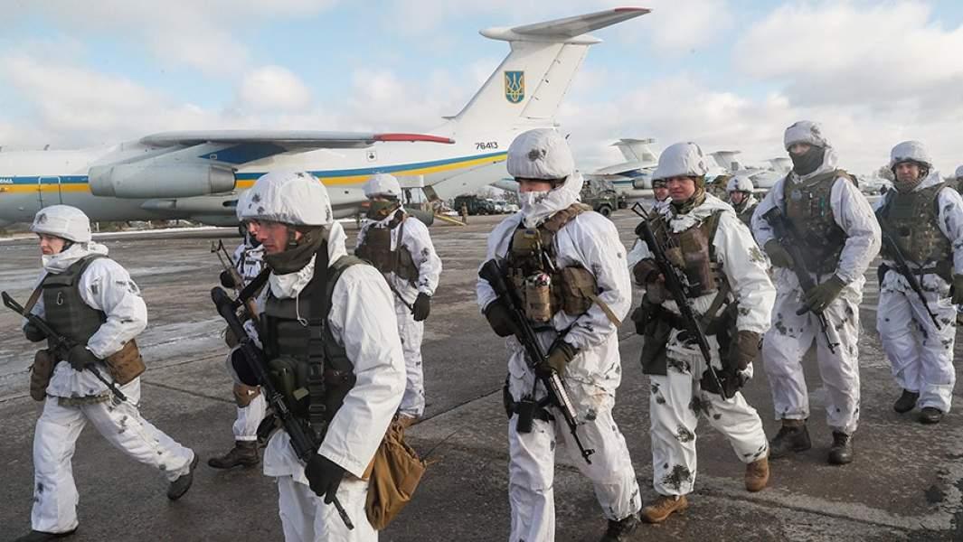 Десантно-штурмовые войска Украины во время учений