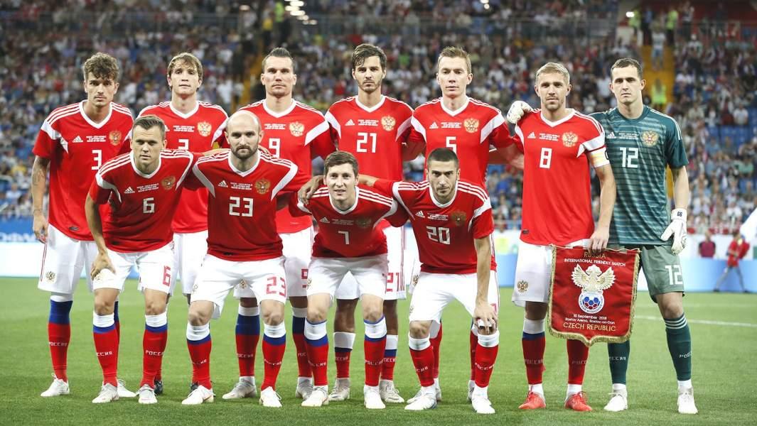 Сборная России по футболу перед товарищеским матчемсо сборной Чехии, 9 сентября 2018