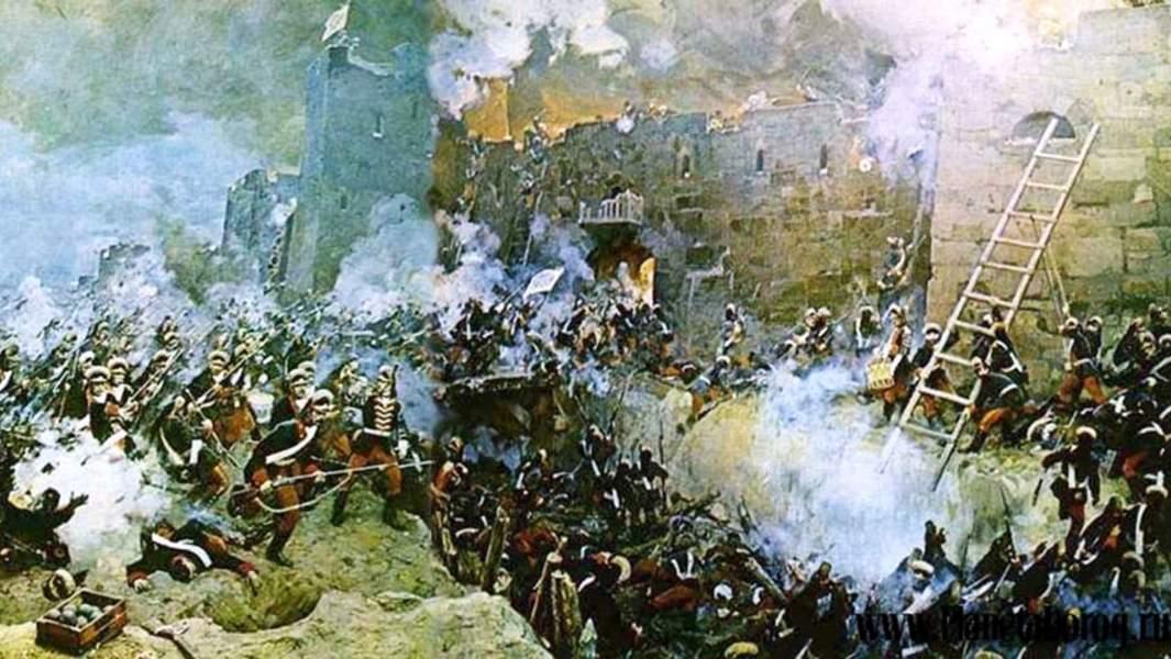 """Гравюра С. Шифляра """"Штурм Измаила 11(22) декабря 1790 года"""""""