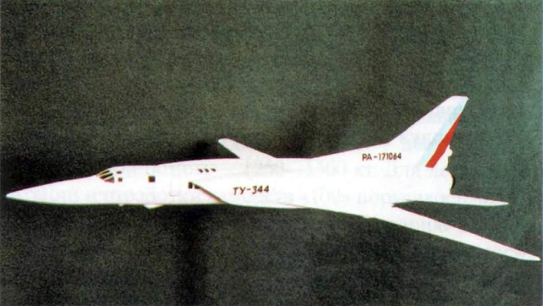 Модель сверхзвукового пассажирского самолета Ту-344