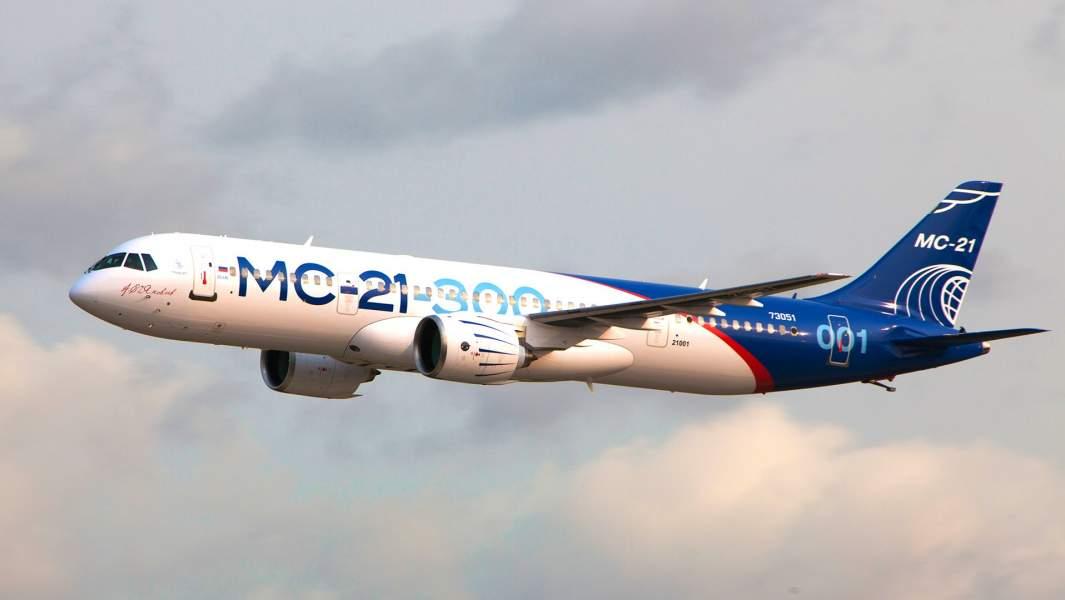 Самолет МС-21 во время первого перелета из Иркутска в Жуковский