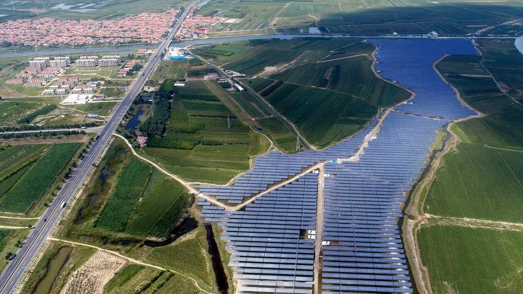 Солнечная электростанция в китайской провинции Шаньдун