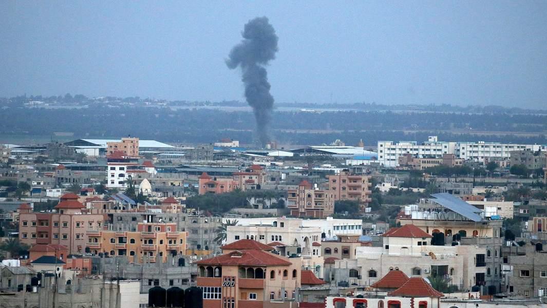 Израильский авиаударв южной части сектора Газа
