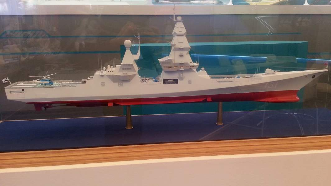 "Макет эсминца проекта 23560 (шифр ""Лидер"") на выставке ""Армия 2015"""