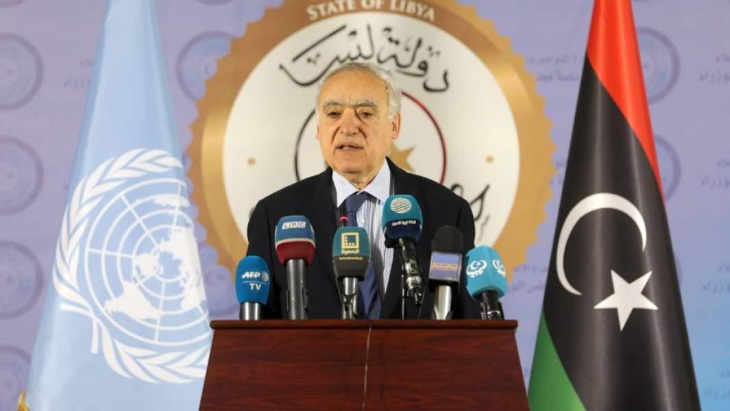Спецпосланник генерального секретаря ООН по Ливии Гассан Саляме во время пресс-конференции в Триполи