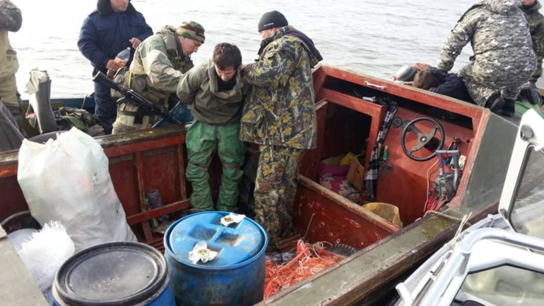 Задержание группы браконьеровв Каспийском море