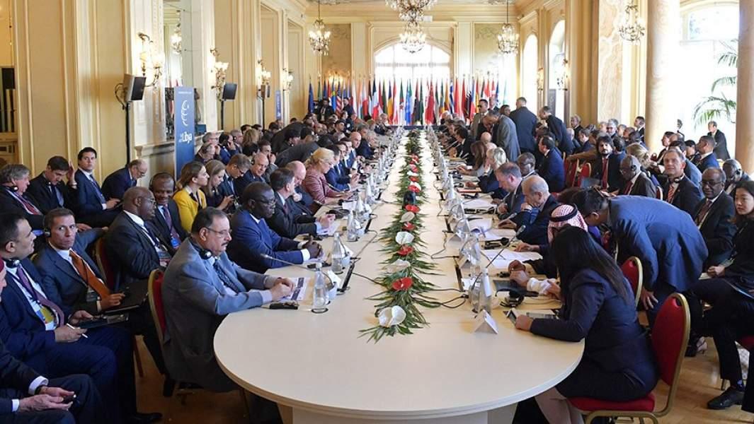 Пленарное заседание международной конференции по Ливии в Палермо. 13 ноября 2018 года
