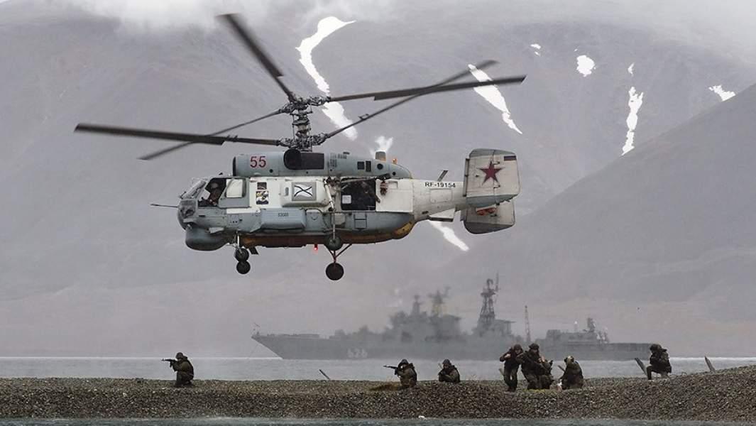 Противолодочный вертолет К-27 во время похода в Арктические моря, Арктика