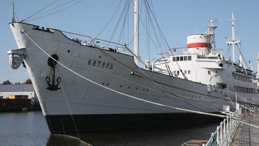 НИС «Витязь» — первое научно-исследовательское судно, является экспонатом Музея Мирового океана в Калининграде
