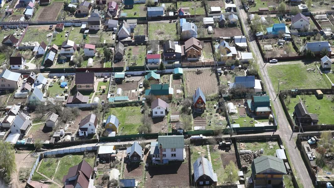 Дачные поселки, вид с квадрокоптера