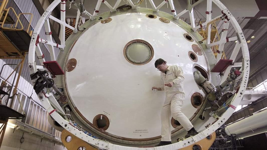 Сборочный цех Государственного космического научно-производственного центра имени М.В.Хруничева
