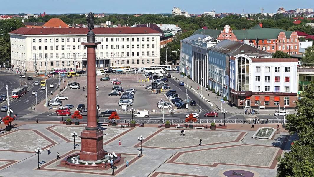 Главная городская площадь Победы в Калининграде