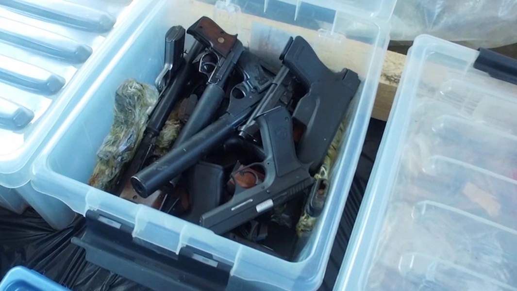 Оружие, найденное в результате оперативно-разыскных мероприятий