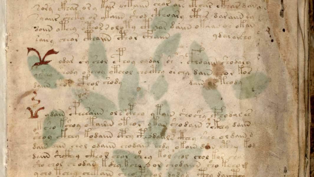 Первый лист рукописи Войнича