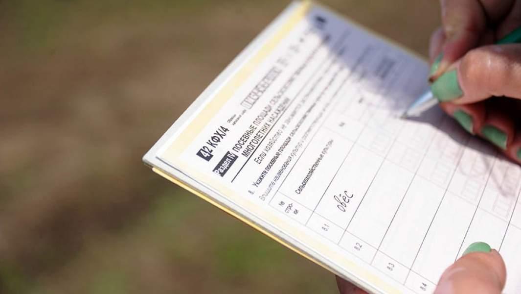 Сотрудница федеральной службы государственной статистики заполняет анкету во время проведения инспекции сельскохозяйственной фермы в селе Шишкино Читинского района.