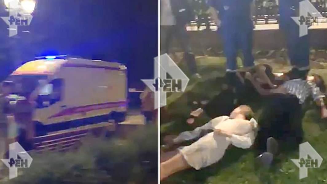 Жертвы отравления на газоне на Чистопрудном бульваре сразу после употребления напитка