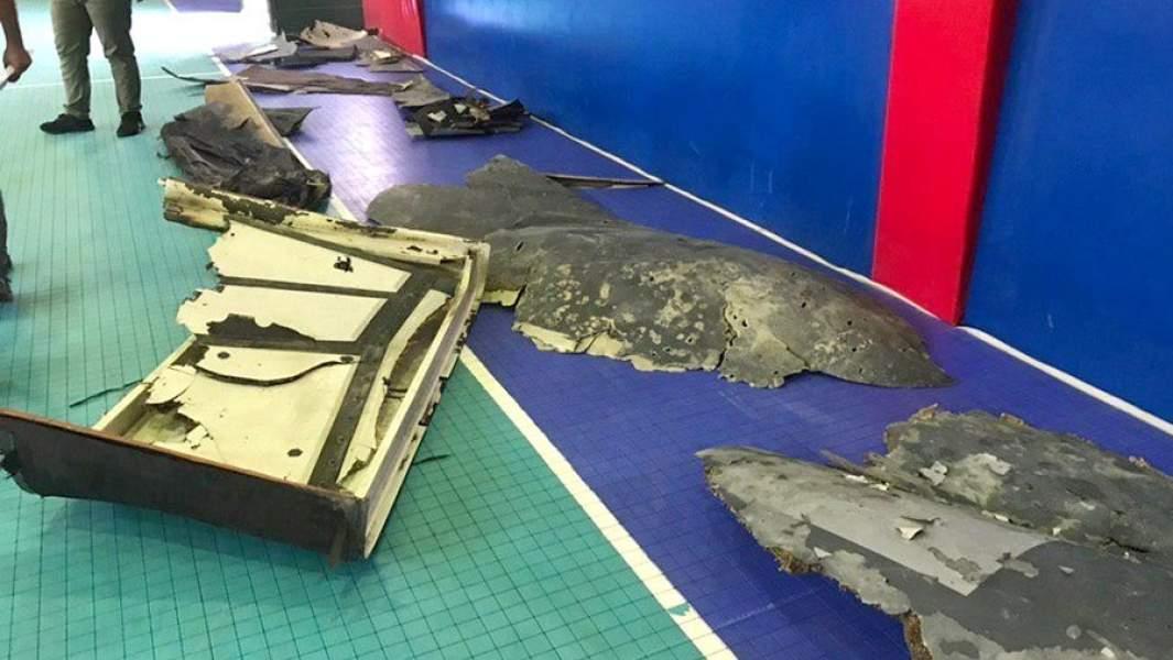 Обломки американского беспилотника, уничтоженногоКорпусом стражей исламской революции Ирана