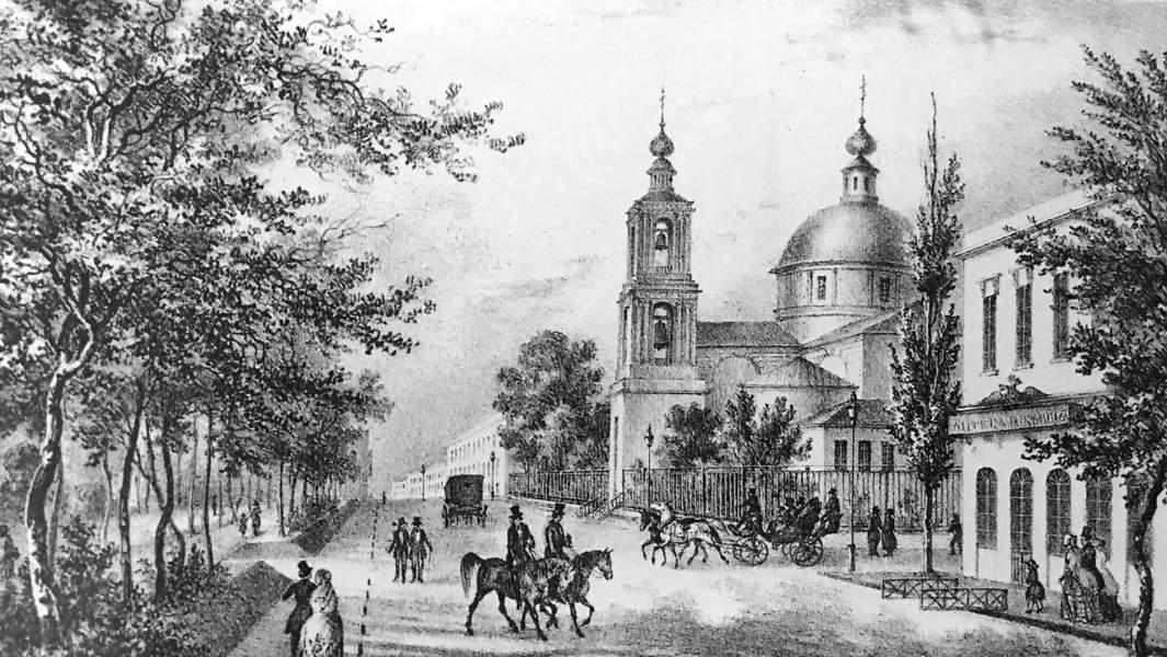 Одесса в графике 19 века, рисунок Гросс Франца