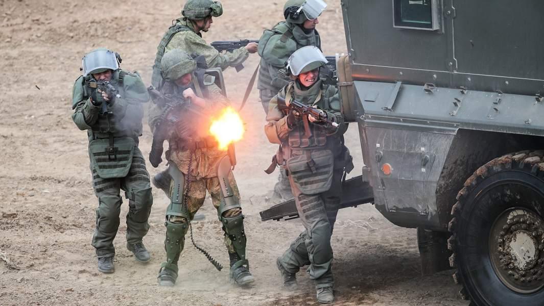 Демонстрация действий пехоты Российской армии