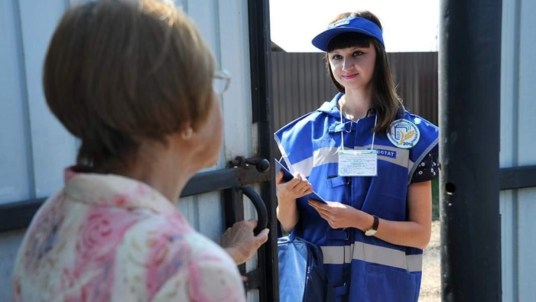 Представительница Росстата во время Всероссийской сельскохозяйственной переписи 2016 в Чите