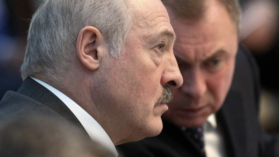 Александр Лукашенко и министр иностранных дел Белоруссии Владимир Макей