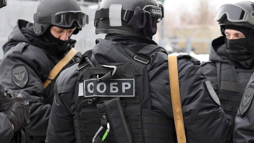 Военнослужащие подразделения СОБР
