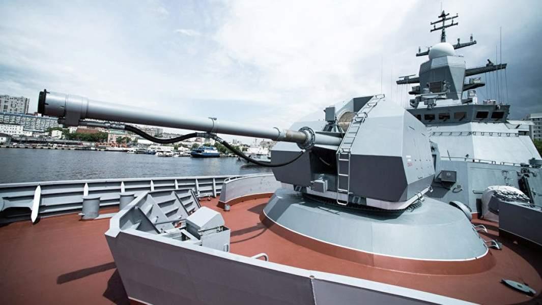 Автоматическая пушка А-190 на носу корвета проекта 20380 «Совершенный»