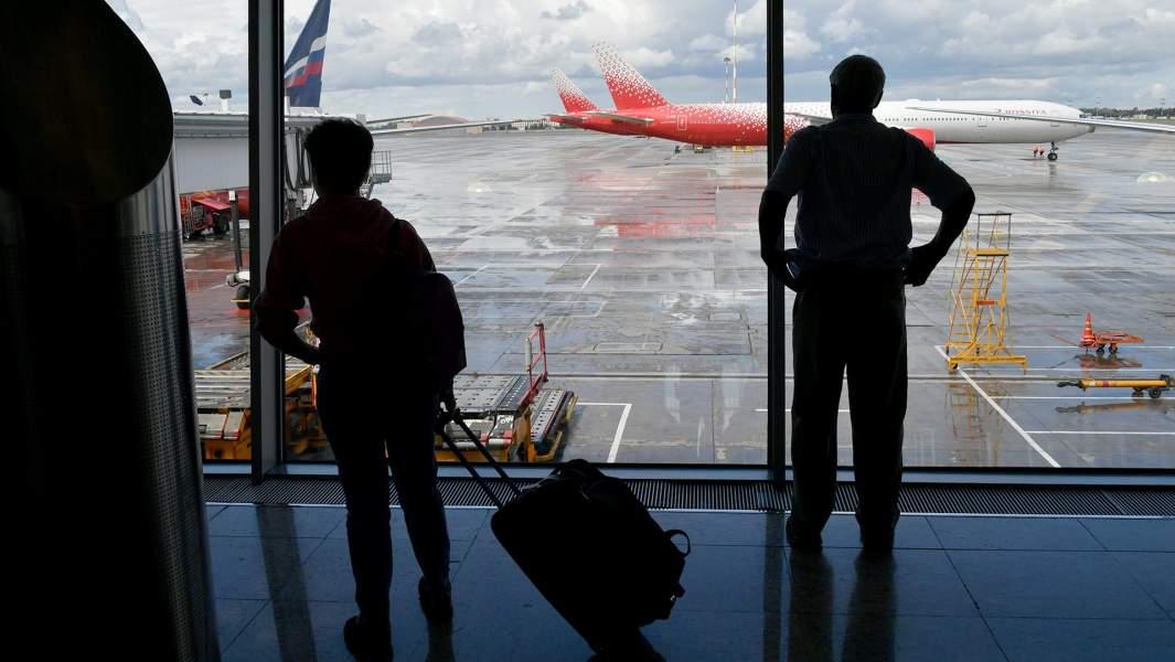 аэропорт пассажиры самолет вылет