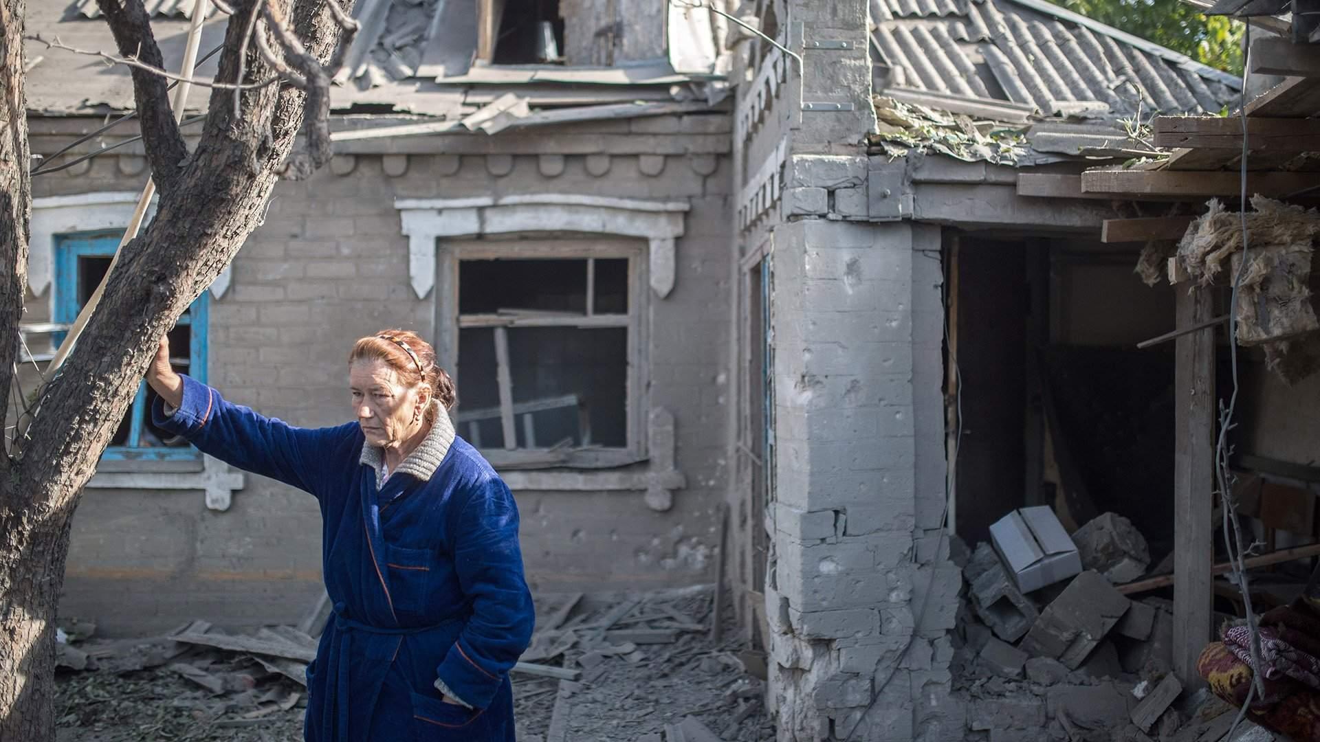 фото разбитых домов донбасса так противостоят