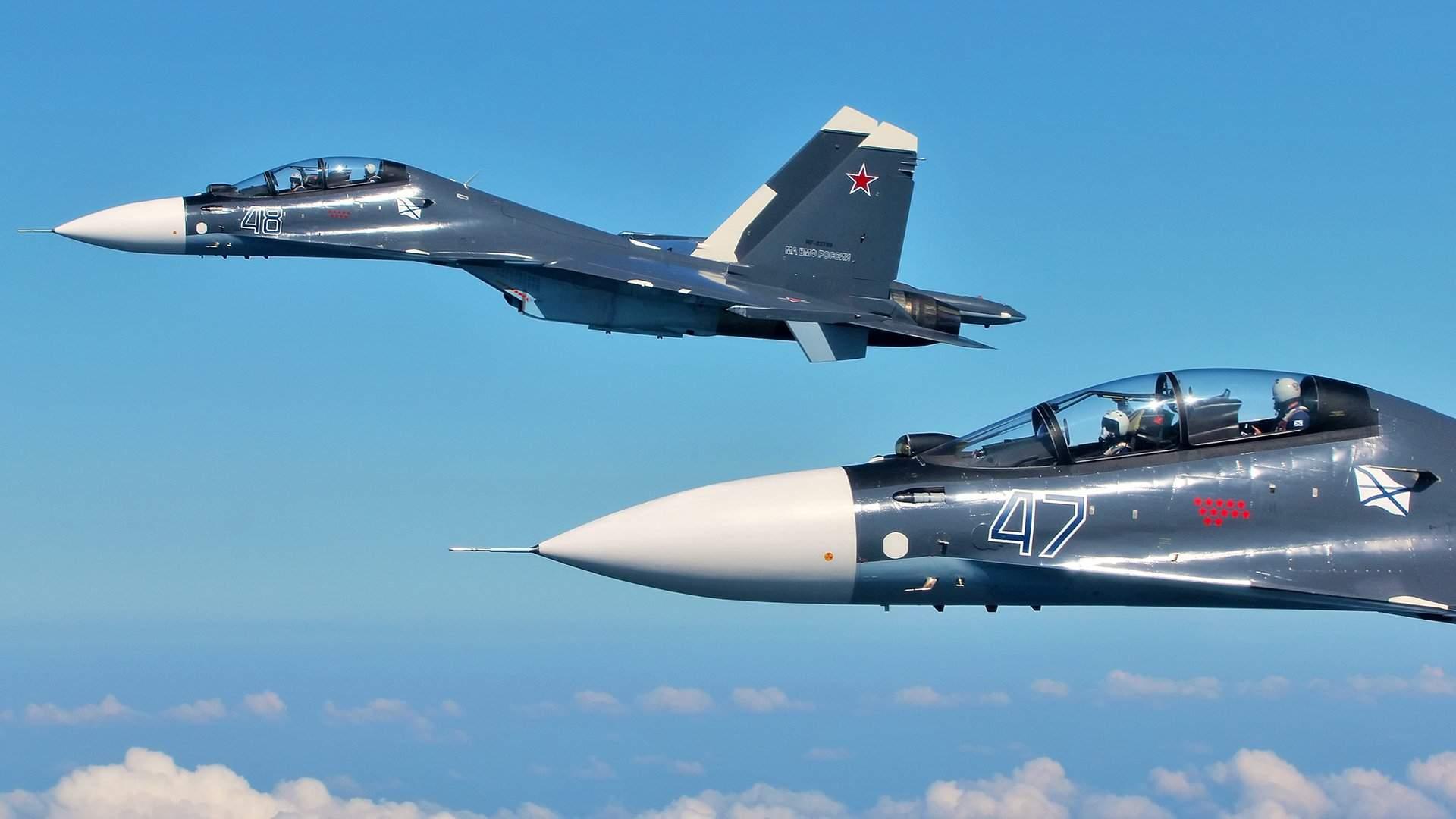 Обои Су-30см, двухместный, многоцелевой, российский. Авиация foto 13