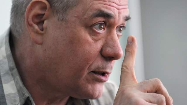 Журналист Сергей Доренко во время встречи со студентами Московского государственного университета имени М.В. Ломоносова