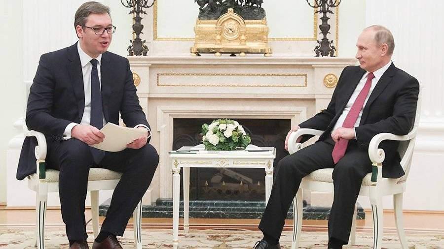 Путин рассказал овозможности подключения сербии к«турецкому потоку»