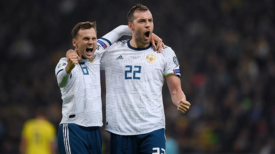 Российские футболисты обыграли сборную Казахстана